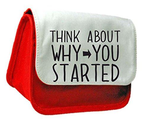 Think About perché è iniziato PopArtUK-Astuccio o Make Up Clutch Bag Misura unica rosso