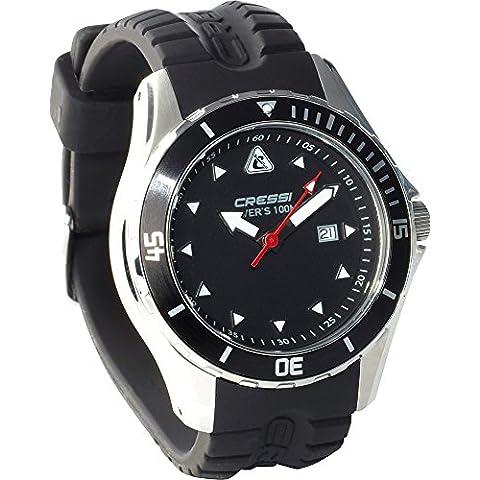 Cressi Manta Lux - Reloj para buceo negro negro