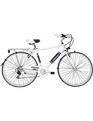 cicli adriatica Hombre Bicicleta Panarea Man, color blanco, azul, tamaño medium, tamaño de cuadro 50 centimeters
