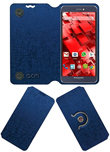 ACM Designer Rotating Flip Flap Case for Panasonic P55 Novo Mobile Stand Cover Blue