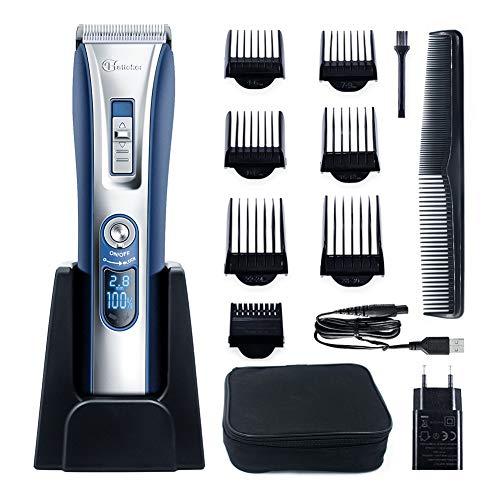 er Herren Profi Haarschneidemaschine Elektrischer Bartschneider Haartrimmer Präzisionstrimmer Männer für Akku- und Netzbetrieb Wiederaufladbare USB ()