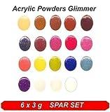 Acryl Color Puder Effektfarben * Colaxy Acrylpuder EFFEKT 16 x 3g SPAR SET *