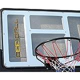 BEE-BALL ZY-020 - Canasta de baloncesto de tamaño reglamentario con marco, aro flexible y red (para uso exterior)
