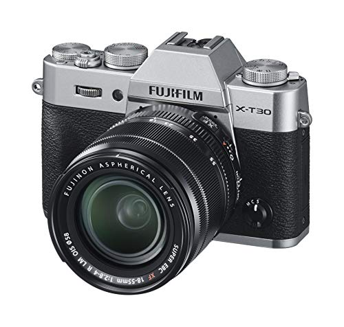 Fujifilm X-T30, Kit cámara con Objetivo Intercambiable XF18-55/2.8-4, Color Plata
