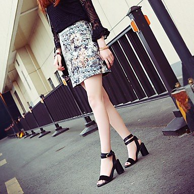 LvYuan Club sandales printemps été chaussures pour femmes du parti vachette&Robe de soirée Dark Brown