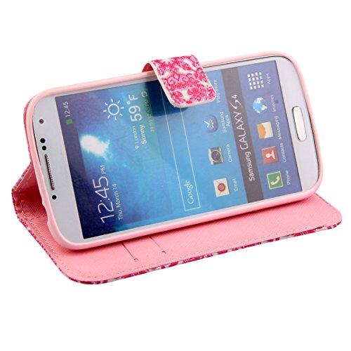 Coque pour Samsung Galaxy S4 Mini, ISAKEN Élégant Style PU Cuir Flip Magnétique Portefeuille Etui Housse de Protection Coque Étui Case Cover avec Stand Support pour Samsung Galaxy S4 Mini I9190 I9195  #3