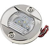 MagiDeal Luz de Popa Cola Terasera Navegación LED para Barco Accesorios para Automóvil Prueba de Salpicadura Acero Inoxidable Impermeable Universal