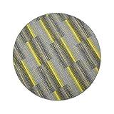 havatex Luxus Schlingen Teppich Magic Light rund - Farben: Pink, Blau, Türkis, Orange, Gelb, Lila | schadstoffgeprüft strapazierfähig | für Wohnzimmer Jugendzimmer Büro, Farbe:Gelb, Größe:150 cm rund