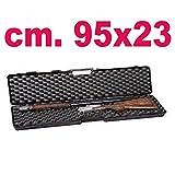 Carson Custodia Rigida per Fucile Borsa Valigia Dura Imbottita in plastica portafucile cm.95x23