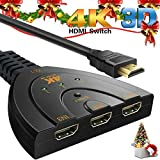 Switch HDMI, AiYun HDMI Interruttore 4K 3 in 1 out HDMI Switcher - Supporta audio 3D / 4K / 1080P /Audio HD per PS3 /PS4 /Roku /Nintendo /Amazon stick /AppleTV ecc