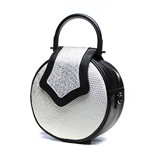 Home Monopoly Sacchetto di spalla casuale della borsa delle donne Sacchetto sveglio della borsa del sacchetto del messaggero del sacchetto piccolo Borsa rotonda della borsa rotonda / con la cinghia di Bianca