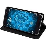 PhoneNatic Kunst-Lederhülle für HTC 10 Book-Case schwarz Tasche 10 Hülle + 2 Schutzfolien