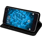 PhoneNatic Kunst-Lederhülle für HTC 10 Book-Case schwarz