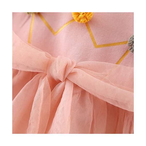 Vestido 6-18 Meses Tutú para Bebé Malla Vestidos para Niñas Princesa Falda de Tul de Fiesta con Bowknot Pompón Piel… 3