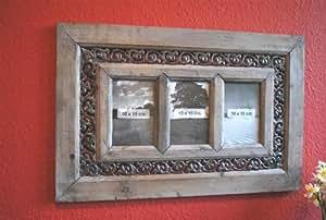 bilderrahmen fotogalerie blech 3 fotos antik bauernstil used look natur k che haushalt. Black Bedroom Furniture Sets. Home Design Ideas