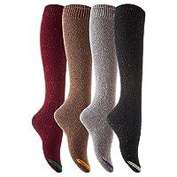 Des chaussettes en coton à hauteur de genou pour femmes, disponibles en 5 couleurs, pour un design élégant qui s'agence bien avec vos chaussures et vos vêtements du lundi au vendredi! Très confortable et extensible! Vous pouvez les porter comme chaus...
