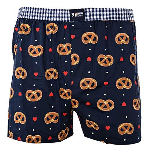 Happy Shorts Uomo American Boxer Boxer Boxer Shorts Webboxer Design per Oktoberfest Cuore di Pan di Zenzero Brezel e Birra Brezel/Herz Medium - 5-50