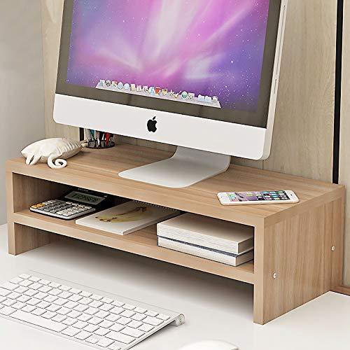 ASDFGH Office Holz Schreibtisch Organizer Computer Schreibtisch Organisation Monitor, Bambus Holz Monitor Riser Stifthalter mit schublade, Mit Tastatur-stauraum-C - Holz-tastatur-schublade