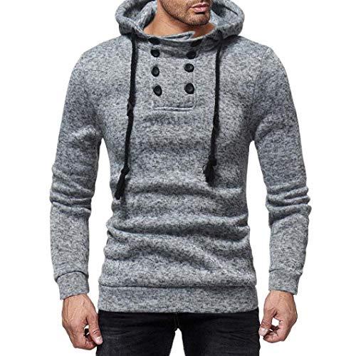 Preisvergleich Produktbild Lang Sleeve Knopf Gap Passt Sweatshirt Bluse Top,  x1 F34e; coconano Herren Herbst und Winter Hooded Casual Langarm Pullover