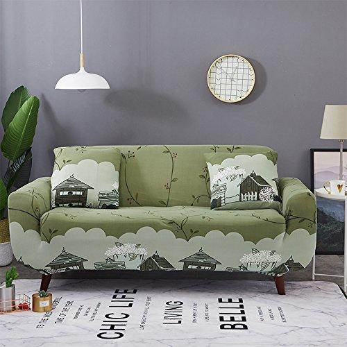 Ssdlrsf fodera di cotone stampata a fiori fodera avvolgente fodera per mobili antiscivolo alluminio soft copridivano per divano ad angolo (145-185 cm), colore 14, tre posti