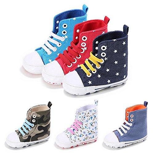 kingko® Baby hoch zu helfen, bewegen Sie den Wind weichen Kleinkind Schuhe, um das Baby ein warmes kleines Geschenk Blau