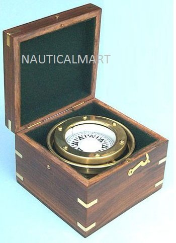 R.M.S. Titanic, White Star Line Brass Nautical Gimbaled boxed Compass