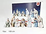 generaltrade Set natività Personaggi Statue presepe presepio 10pz statuine cm20 remagi Chiaro Paesaggio Completo re Magi