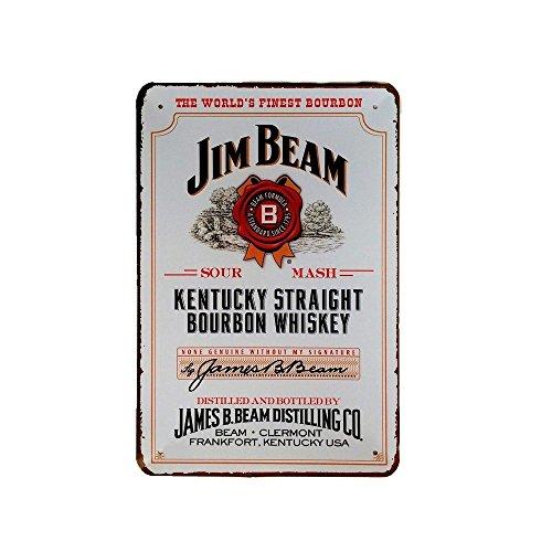 Cartel de chapa vintage Decoración, Letrero A4 Estilo Antiguo de metálico Retro - Jim Beam