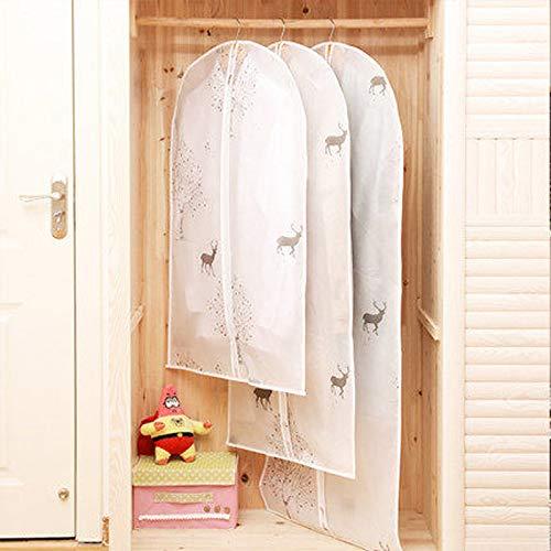 QFFL Sac de compression sous vide Housse anti-poussière pour vêtements, sac pour vêtements suspendus, rides résistantes à l'humidité de la maison (3 paquets) 2 motifs Sac de protection