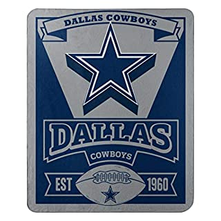 Northwest NFL Dallas Cowboys, Bedruckte Fleece-Decke, Herren, 1NFL/03102/0009/AMZ, Dallas Cowboys, 50