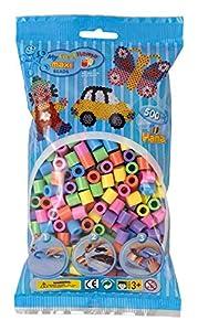Hama Maxi Beads, Mezcla de Cuentas Color Pastel con 500 Unidades