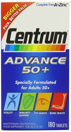 Centrum Advance 50+ Multivitamin - Pack of 180 Tablets -
