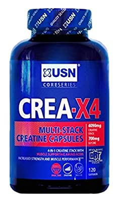 USN Creatine X4 Lean Muscle and Strength Capsules - Tub of 120 by USN