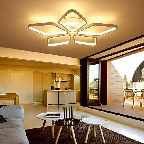 WSW LED Deckenleuchte Warmes Licht Kleines Schlafzimmer Arbeitszimmerlampe Moderne Aluminium- Und Kieselgellampe 66 W Beleuchtung Kreative Mode (66 Quadratmeter)