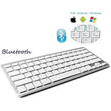 Teclado Inalámbrico Bluetooth 3.0 conexión, marca Dingrich, uso universal, ultra delgado,  teclado portátil y ligero, para tabletas y iPad, para sistemas iOS, Android y Windows, compatible con Tablets
