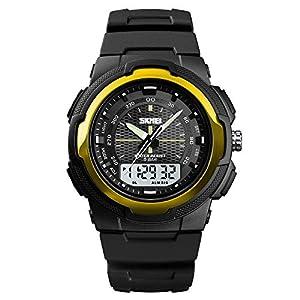 Zolimx Wasserdichte Alarm-Datums-Sport-Analog-Digital-Fitness LED Digitaluhr Hintergrundbeleuchtung-Armbanduhr