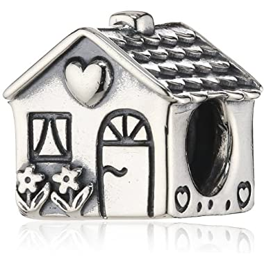 Pandora Women's 925 Sterling Silver House Charm Bead