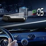 AITOCO Auto HUD Head Up Display 12,7 cm großer Bildschirm GPS Digitaler Tachometer Kraftstoffverbrauch Geschwindigkeitswecker Wassertemperatur Alarm Spannung Alarm Diagnosegerät Windschutzscheibe Projektor System mit OBD2