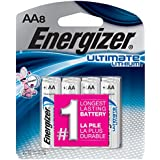 Energizer Ultimate Lithium AA Batteries, 8 Count