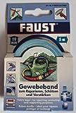 Faust Gewebeband zum Reparieren, schützen u. verstärken, Farbton Weiss / 19 mm x 5 m