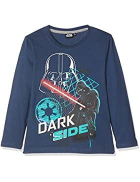 Star Wars-The Clone Wars Darth Vader Jedi Yoda Chicos Camiseta mangas largas - Azul marino