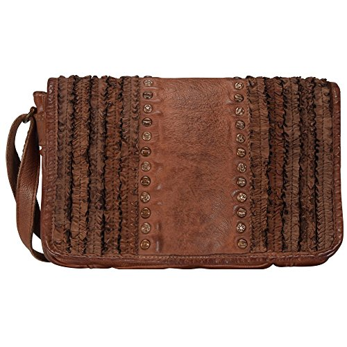 Billy the Kid Frilled Sac bandoulière cuir 26 cm cognac