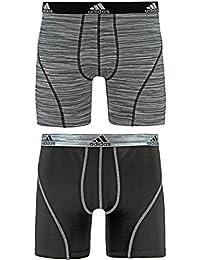 adidas Men's Sport Performance Climalite Boxer Brief Underwear (2 Pack)