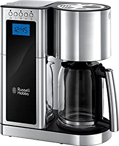 Russell Hobbs 23370 Elegance Digital Coffee Maker-Programmable with 24 Hour Timer, Reusable Filter, Hot Plate and 10 Cup Capacity