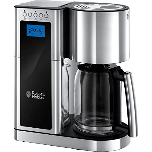 51yFwtJqZcL. SS500  - Russell Hobbs 23370 Elegance Digital Coffee Maker-Programmable with 24 Hour Timer, Reusable Filter, Hot Plate and 10 Cup Capacity, Stainless Steel, 1600 W, 1.25 liters