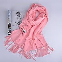 XBR _250 épaisse écharpe d'automne et d'hiver chaud foulard, foulard rouge imitation du cachemire, pure color écharpe