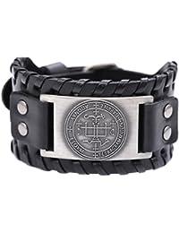 Bracelet Vassago - Style vintage - Design des clés d'amulette de Salomon - Motif représentant le sceau de l'Archange Gabriel
