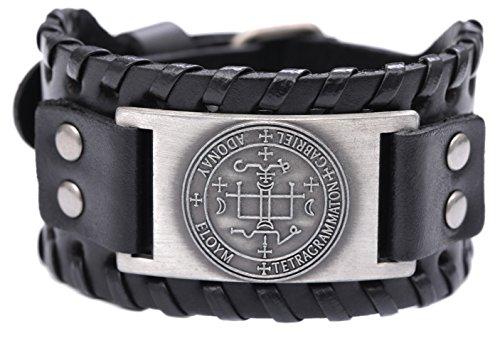 VASSAGO Vintage Amulett Schlüssel des Salomon die Sigil von Erzengel Gabriel Talisman New Style Armband