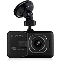 "Procus Convoy Car Dash Camera,FHD 1080P, 3"" LCD Screen, 120° Wide Angle Lens, G-Sensor, Motion Detector, Loop Recording (Without SD Card)"