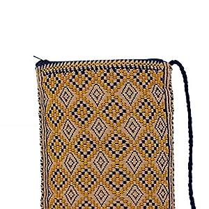 Handytasche beige Handgewebt, Ethno Clutch Boho Stil, Handytasche, HANDARBEIT, Kosmetiktasche, Tasche, Geschenkidee für Frauen